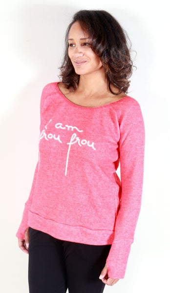 """i am frou frou"" Sweatshirt (Red)"