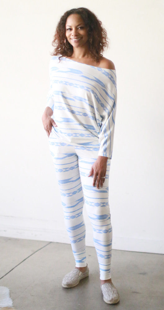 Skinny Will Pants (Icicle Ikat)