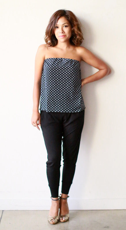 Annette Top (Lycra Dots)