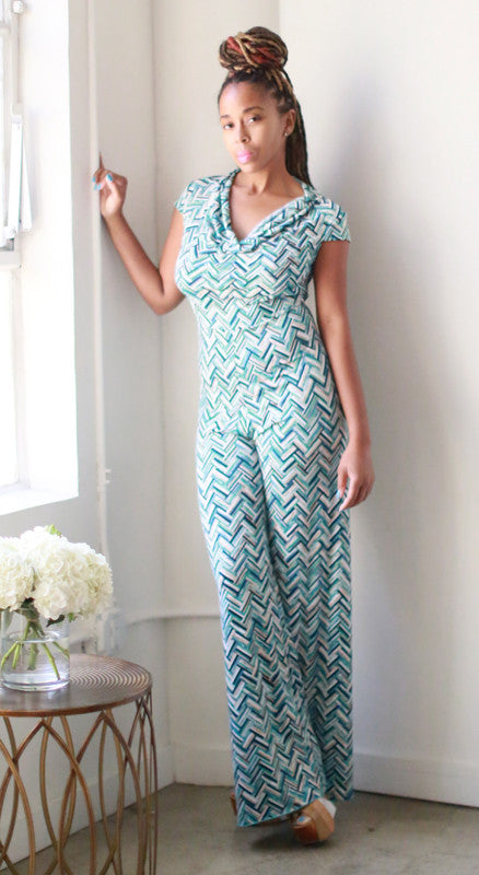 Mercedes Jumpsuit (Mint Rattan)