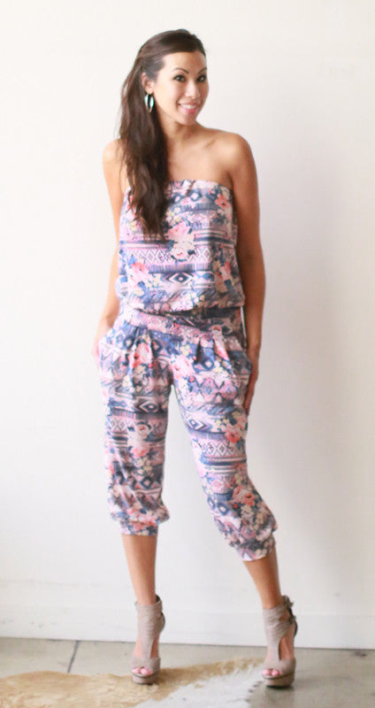 Iceis Cropped Jumpsuit (Navajo Rose)