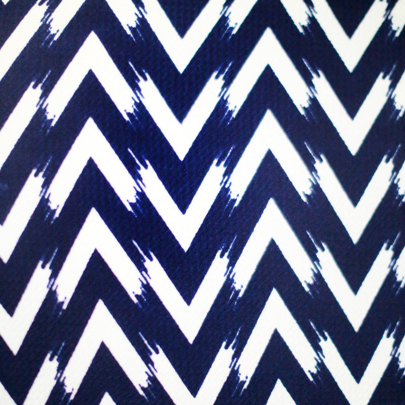 Annette Top (Navy Chevron)