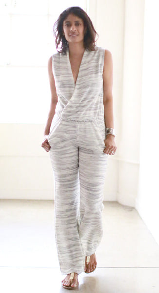 Roy Jumpsuit (Oatmeal Grey)