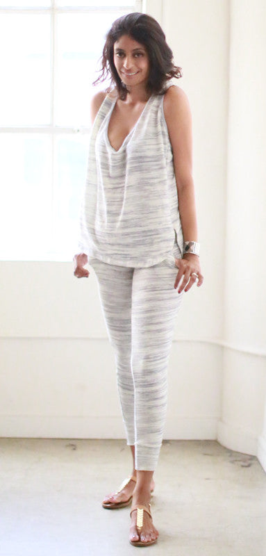 Sarah Loose Tank (Oatmeal Grey)
