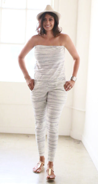 Skinny Will Jumpsuit (Oatmeal Grey)