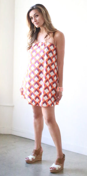 Corsican Mini Dress (Orange Cube)