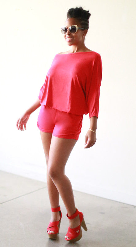 Astrid Shorts (Red Jersey)