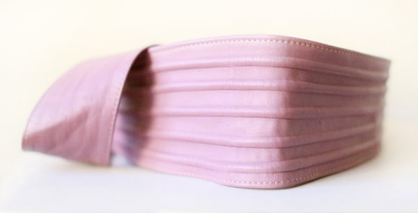 Ribbed Wrap Belt (Lavender Blush)