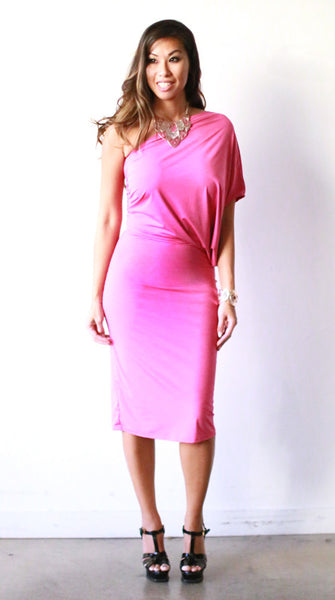 Cristina Knee Length Dress (Rubellite)