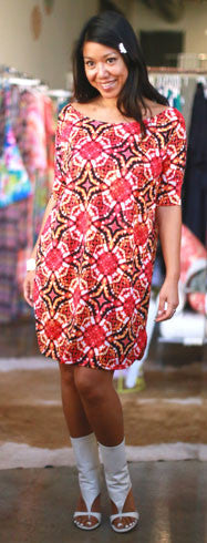 Luz Tee Dress (Starburst Batik)