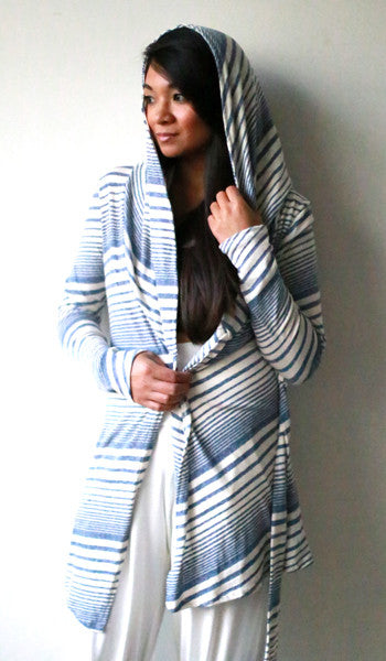 Rene Jacket (Striped Blue Oatmeal)