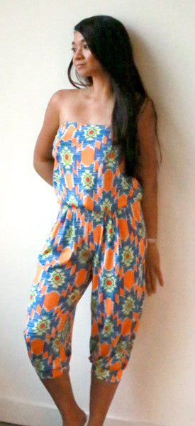 Iceis Cropped Jumpsuit (Southwest Tangerine)