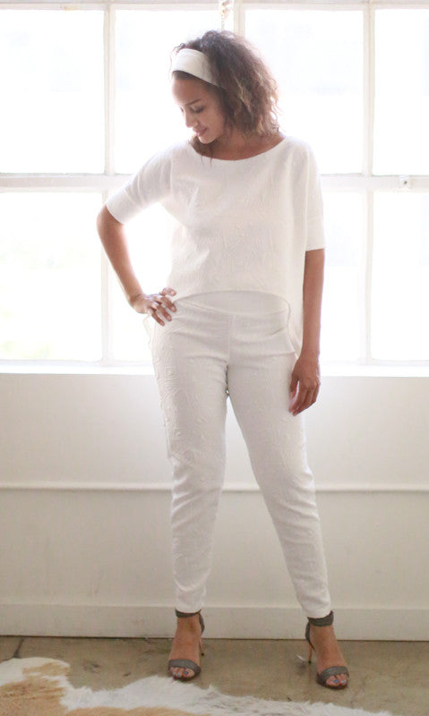 Lou Lou Top (White Quilt)