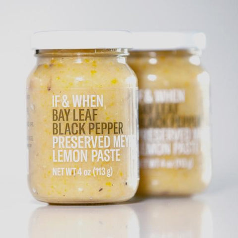 If & When Bay Leaf Black Pepper Preserved Meyer Lemon Paste
