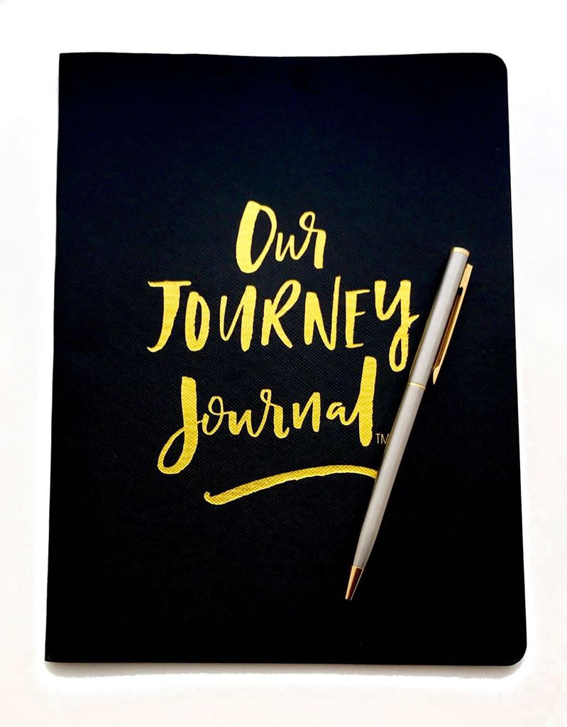 Wholesale Our Journey Journal- Black Leather