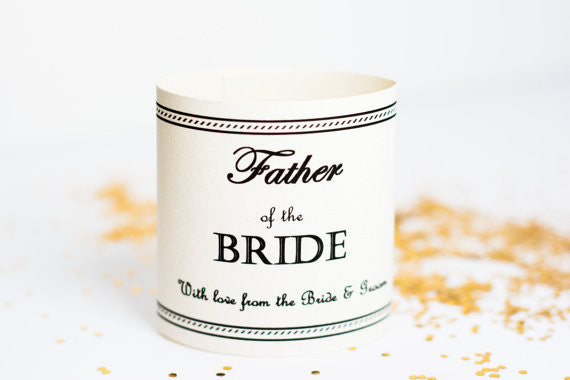 Father Labels personalized unique bridal party gift ideas gifts for the groom