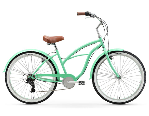 "sixthreezero Serenity Women's 26"" 7 Speed Beach Cruiser Bicycle"