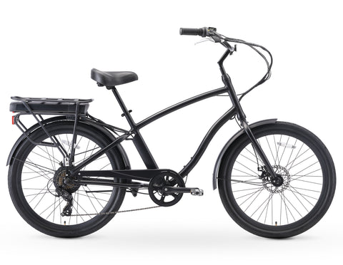"sixthreezero EVRYjourney Men's 26"" 250W Seven Speed Step-Through Touring Hybrid Bicycle"