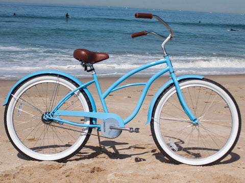 Beachbikes theSTRAND Sky Blue - Women's Single Speed Beach Cruiser Bike