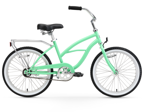 "sixthreezero Around the Block Girl's 20"" Single Speed Beach Cruiser Bicycle"