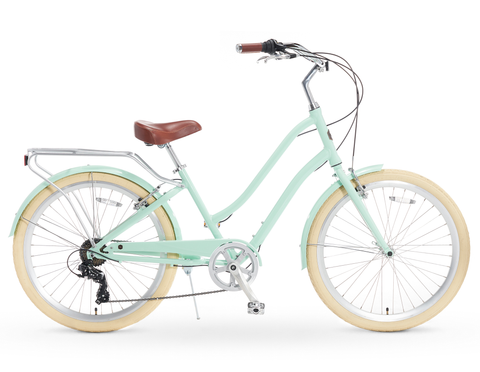 A/O Frida 7-Speed Step-Through Touring Hybrid Bicycle