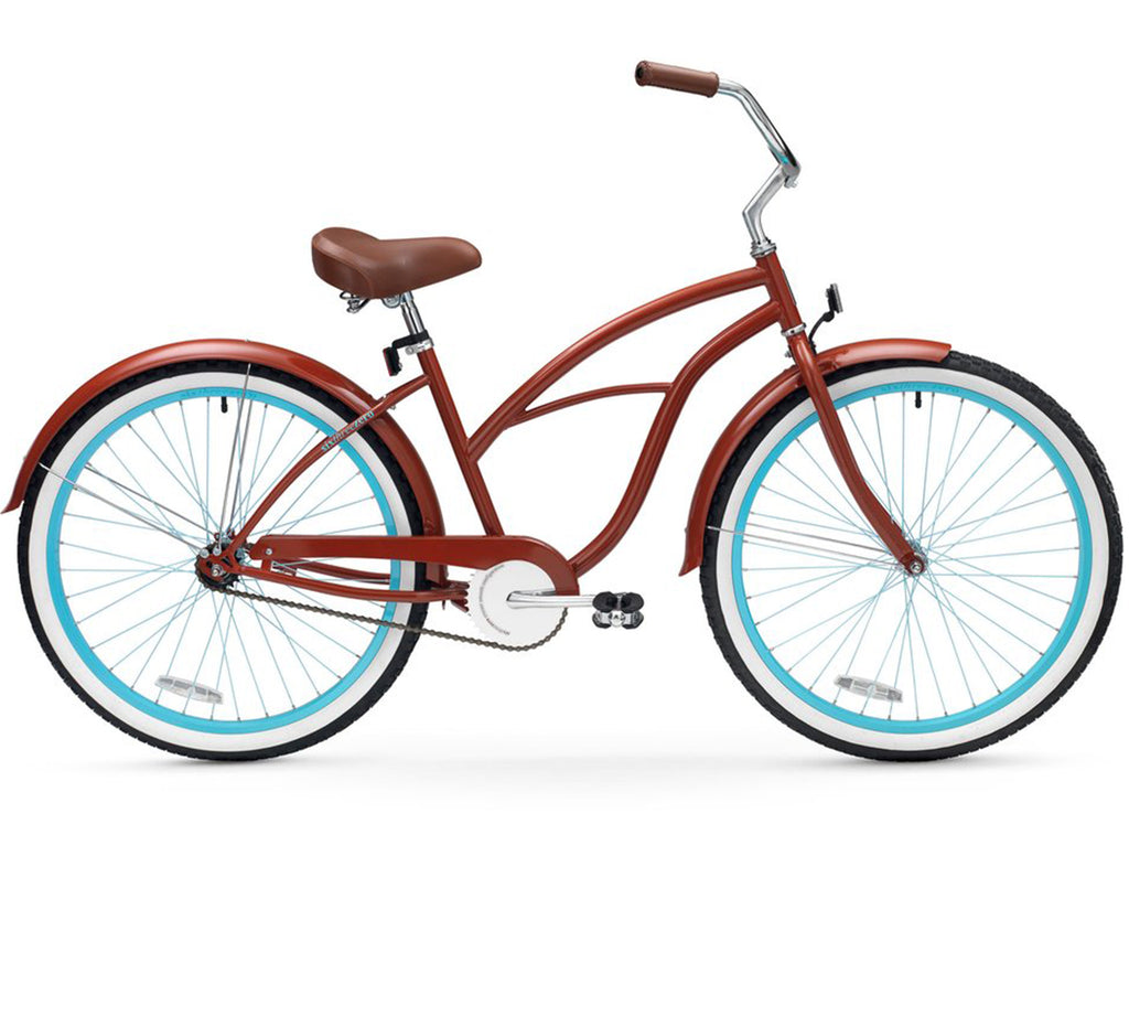 "sixthreezero Brick n' Blue Single Speed - Women's 26"" Beach Cruiser Bike"