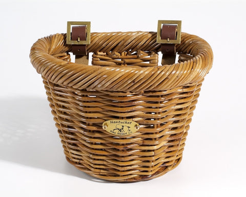 Nantucket Cisco Collection Front Wicker Basket - Child Size
