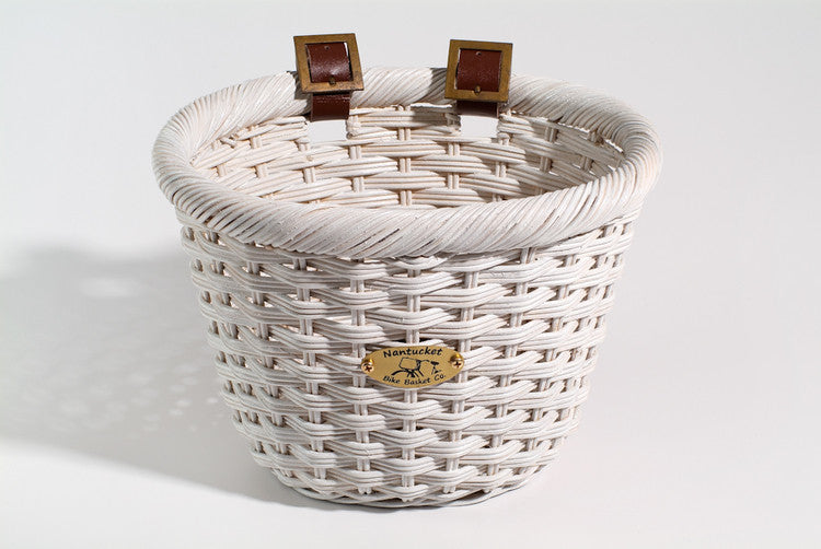 Nantucket Cliff Road Front Wicker Bike Basket - Child Size