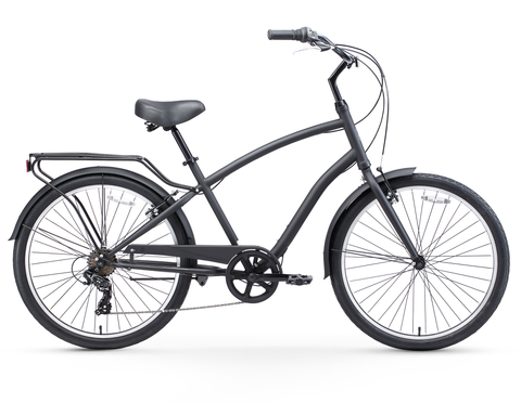 "sixthreezero EVRYjourney Men's 26"" Seven Speed Steel Step-Through Touring Hybrid Bicycle"