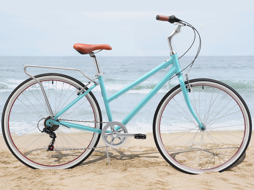 sixthreezero Explore Your Range - Women's 7sp Commuter Hybrid Bike, Teal