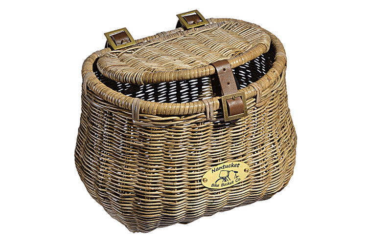 Nantucket Madaket Creel Front Basket with Lid - Adult Size