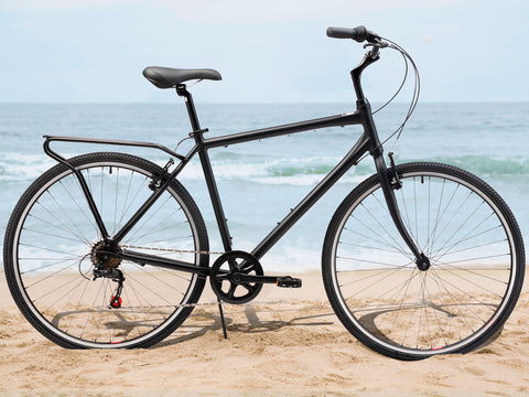 sixthreezero Explore Your Range - Men's 7sp Commuter Hybrid Bike, Matte Black