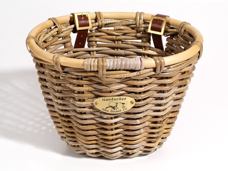Nantucket Tuckernuck Collection Front Wicker Baskets - Adult Size
