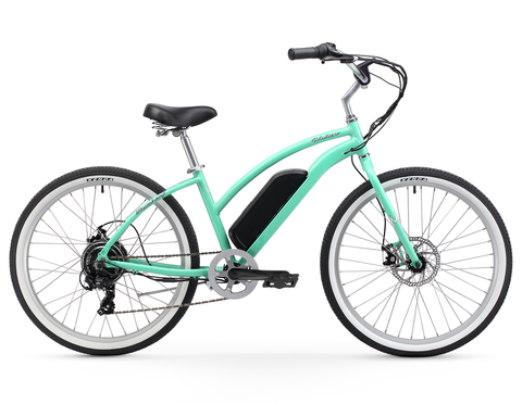 "Firmstrong Urban Lady 26"" 350W Seven Speed Beach Cruiser E-Bicycle"