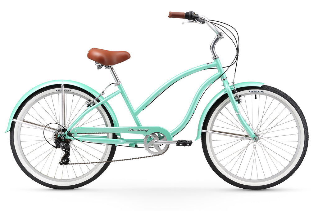 "Beach Cruiser Bike 26/"" Beach Cruiser Bicycle Cycling Mint Green Women Sturdy"