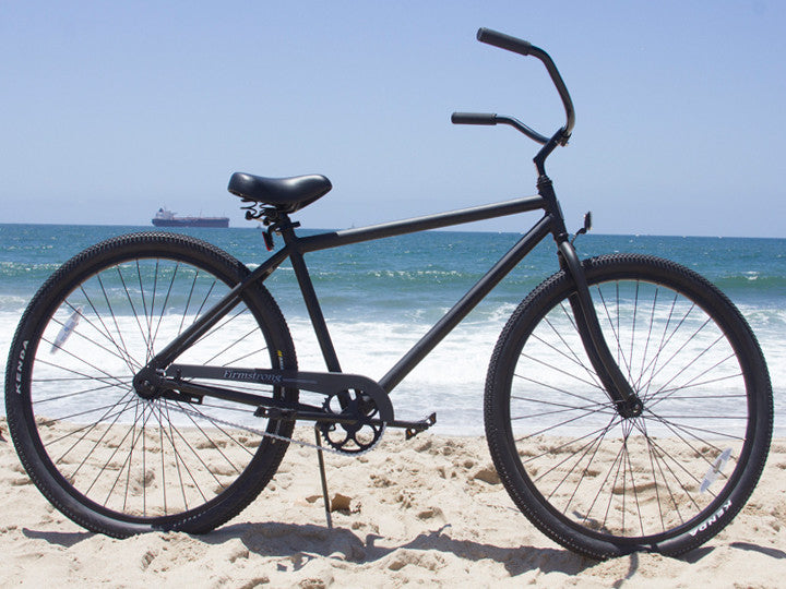 "Firmstrong Black Rock Single Speed - Men's 29"" Beach Cruiser Bike, Matte Black"