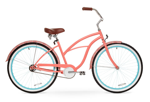 "sixthreezero Paisley Single Speed - Women's 26"" Beach Cruiser Bike"