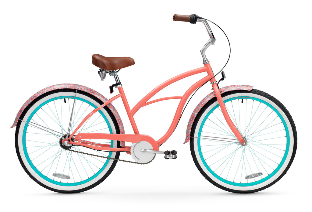 "sixthreezero Paisley 3 Speed - Women's 26"" Beach Cruiser Bike"