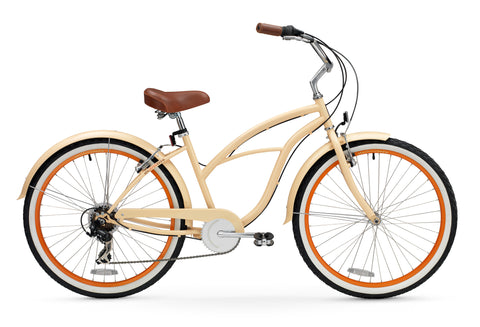 "sixthreezero Scholar 7 Speed - Women's 26"" Beach Cruiser Bike"