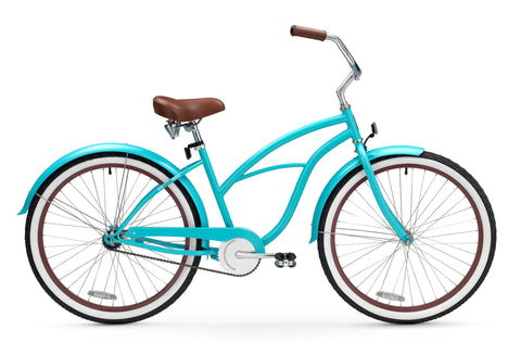 "sixthreezero Teal Single Speed - Women's 26"" Beach Cruiser Bike"