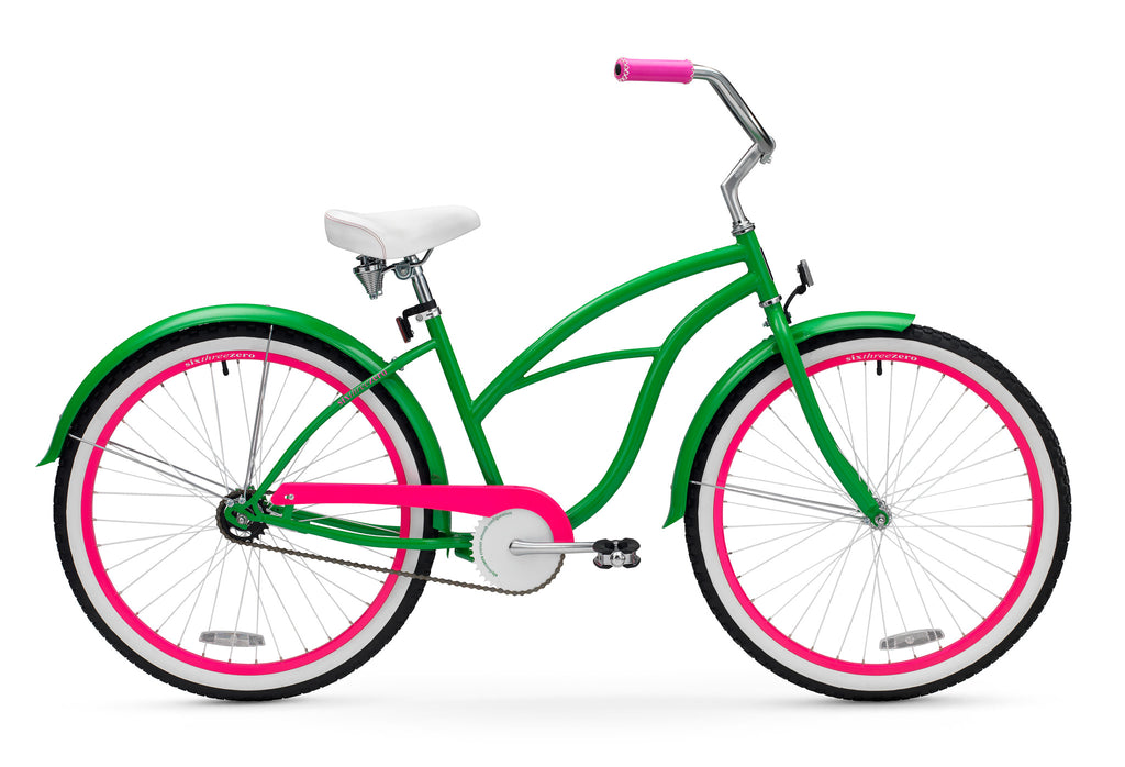 "sixthreezero Watermelon Single Speed - Women's 26"" Beach Cruiser Bike"