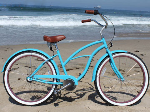 "sixthreezero Teal 3 Speed - Women's 26"" Beach Cruiser Bike"