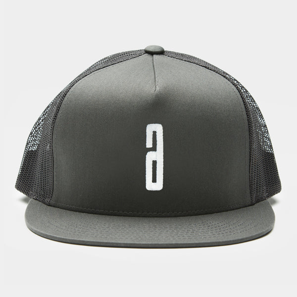 Trucker Cap Embroidery A  - Grey / White