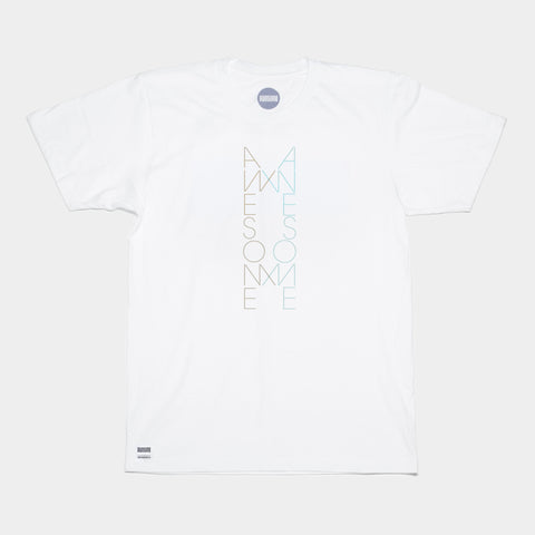 Awesome T-shirt Double Logo - White
