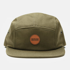 Jockey Cap Leather Patch - Olive