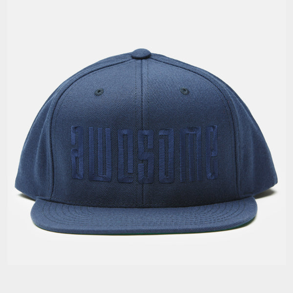 Logo Embroidery Snapback Cap - Blue / Blue