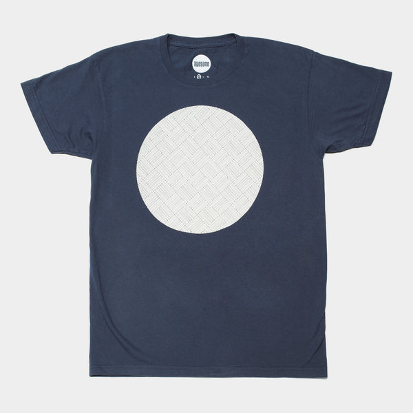 Awesome T-shirt Pattern Circle - Navy
