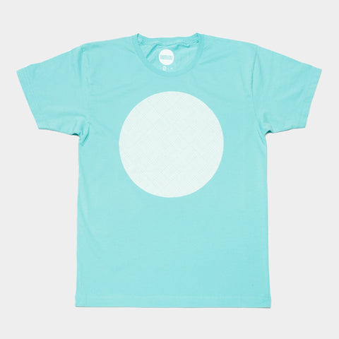 Awesome T-shirt Pattern Circle - Turquoise