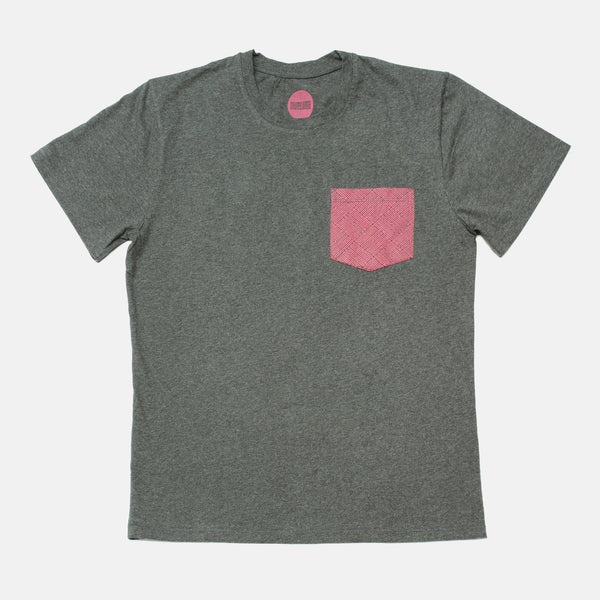 Awesome T-shirt Pattern Pocket - Asphalt / Magenta
