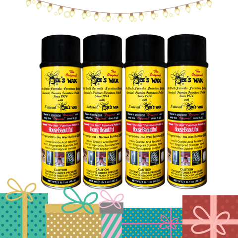 The Original BEE'S WAX Old World Formula Furniture Polish | 4 Pack | SHIPPING INCLUDED